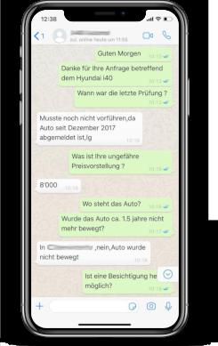 Auto verkaufen Schweiz Whatsapp